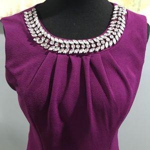 Bisou Bisou pencil dress with stone detail sz 6